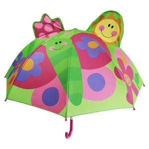 Cute Cartoon Children Umbrella animation creative  long-handled 3D ear modeling kids umbrella For boys girls