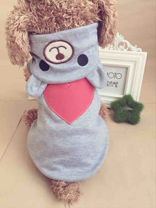 Cute Dog Clothes For Small Dog Cotton Clothing Coat Hoodies For Chihuahua Pets Dogs Warm Clothes Pajamas Love Bear Costume 30S1