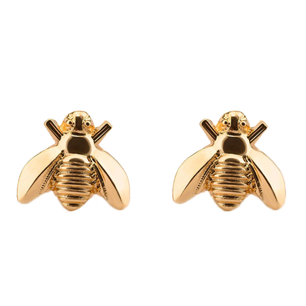 Cute Tiny Bee Earring Jewelry Gold/Silver Color Honey Bee Earrings Stud Unique Earrings Jewelry For Women - ShopeeShipee