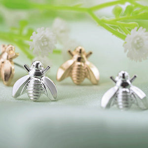 Cute Tiny Bee Earring Jewelry Gold/Silver Color Honey Bee Earrings Stud Unique Earrings Jewelry For Women