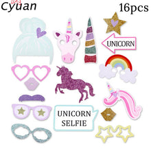 Cyuan Unicorn Party Disposable Tableware Set Kids Birthday Party Paper Cup Plate Hat 1st First Birthday Party Decor Supplies