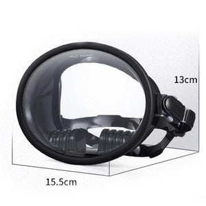 Tempered Glass Diving Mask Underwater Hunting Snorkeling Spearfishing Fishing - ShopeeShipee