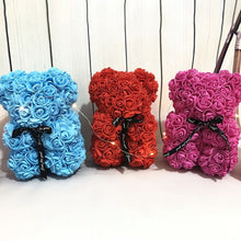 Valentine's Day Gift 25cm Rose Teddy Bear Rose Flower Artificial Decoration Women Christmas Valentines Gift