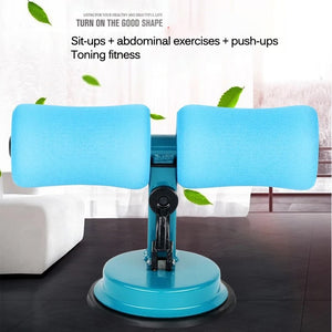 Durable Self-Suction Sit Up Bar Stand Fitness Equipment Abdominal Strength Trainer
