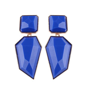 Dvacaman New Irregular Geometric Crystal Drop Earrings Fashion Women Wedding Big Statement Earrings ZA Jewelry Party Gifts AB67 - ShopeeShipee