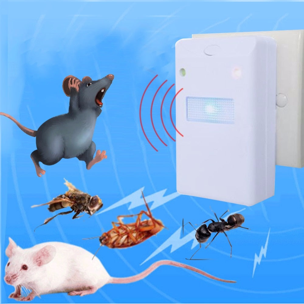 EU/US Plug Ultrasonic Mouse Repellent Anti Mosquito Repeller Mosquito Fly Killer Electronic Pest Reject Bug Zapper Pest Control