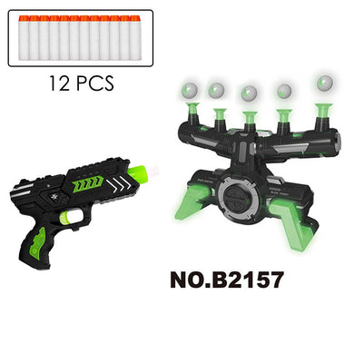Electric Suspension Ball Dart Target Toy Glowing Floating Ball Target Set Shooting Game Target Toy With 12pcs Soft Bullets