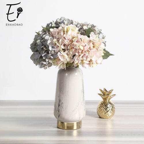 Erxiaobao Artificial Flowers Cheap Silk Hydrangea Bouquet Home Indoor Wedding Autumn Flowers Decoration Accessories Fall Decor - ShopeeShipee