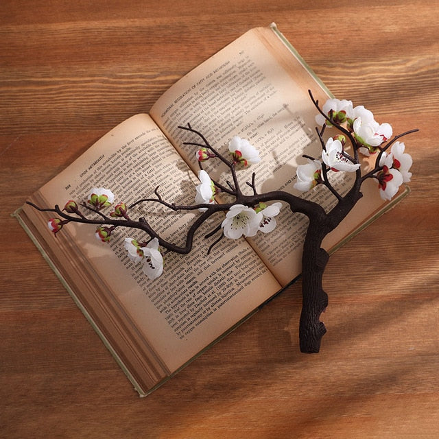 Erxiaobao Pink White Red Wintersweet Plum Blossom Artificial Flowers Fake Cherry Silk Plants Party Wedding Home Decor - ShopeeShipee