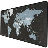 Extra Large Mouse Pad World Map Computer Gaming Mousepad Anti-slip Natural Rubber with Locking Edge Gamer