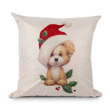 45x45cm Pillow Case Christmas Decorations For Home Santa Clause Christmas Deer Cotton Linen Cover Cushion Home Decor