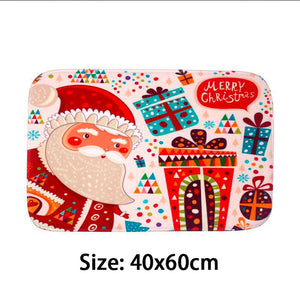 Merry Christmas Door Mat Santa Claus Flannel Outdoor Carpet Christmas Decorations For Home Xmas Party Favors New Year