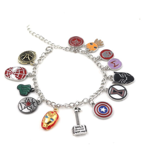 Fahion Black panther Avengers Infinity War Charm Bracelets Marvel Jewelry men women pendant - ShopeeShipee