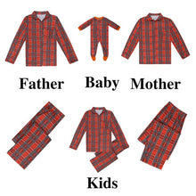 Family Christmas Pajamas Red Plaids Family Matching Pajamas Autumn Winter Matching Couple Outfits Christmas Set