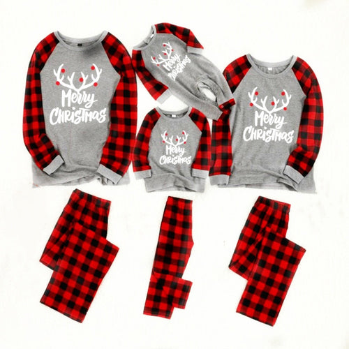 Family Christmas Pajamas Set Cotton New Christmas pajamas pyjamas kids Sleepwear Family Outfits men pajamas set pyjamas women - ShopeeShipee