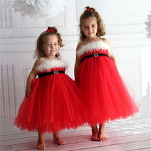 Fancy Halloween Long Elegant Dresses for Girls Feather Princess Party Tutu Baby Dress Kids Clothes Red Christmas Party Costumes