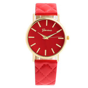 Fashion Checkers Faux lady dress watch sports women's Casual Leather quartz watches Luxury lovers Wristwatch Gifts 7 Colors