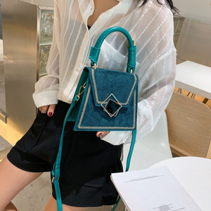 Fashion Suede PU Leather Handbags Women's Messenger Crossbody Bags 2020