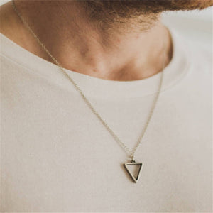 Fashion new Silver Pendant Necklace Men Temperament Stainless Steel Chain Necklace For Men Party Jewelry Gift