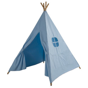 Four Poles Children Teepees Kids Play Tent Cotton Canvas Teepee White Playhouse for Baby Room Tipi