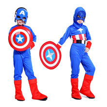 Free shipping Halloween costume cosplay Captain America shield children suit boy show costumes Masquerade Costume
