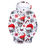 Full Printed 3D Christmas Hoodies Men/Women Trends Personality Skull Sweatshirts Young Hip Hop Harajuku Christmas 3D Hoodies