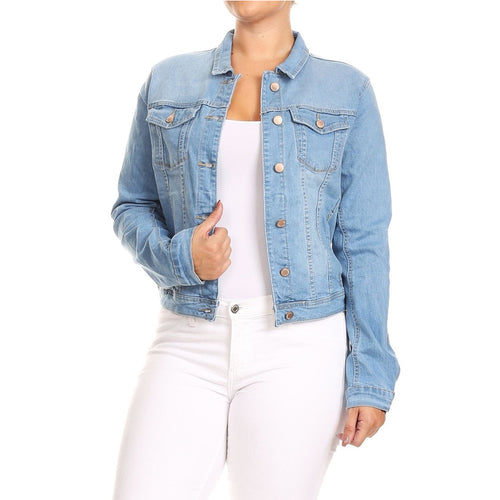 Plus Size Fall Jean Jacket Women Denim Jeans Jacket for Women Coats and Jackets Women Casual Streetwear Fall - ShopeeShipee