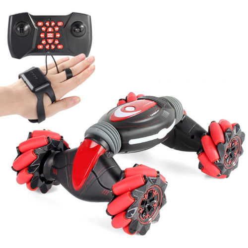Gesture Sensing Stunt Remote Control Car Children's Light Light Music Twisting Car Deformation Climbing Off-road Vehicle Model - ShopeeShipee