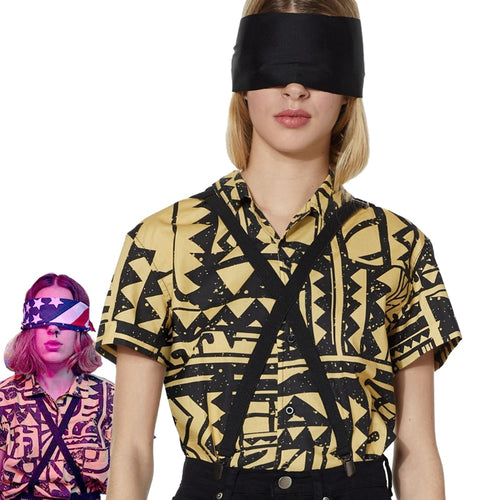 Girls Women Stranger Things 3 Eleven Cosplay Costume EL Cosplay Shirt Halloween Carnival Party Props - ShopeeShipee