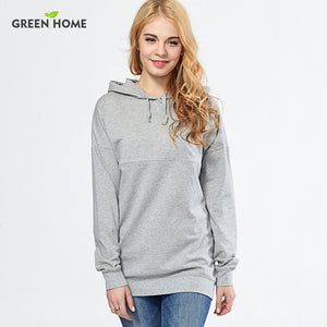 Green Home Casual Solid Nursing Hoody Tops Spring Maternity Clothes with Hood Breastfeeding Hoodies Nursing Sweatershirt