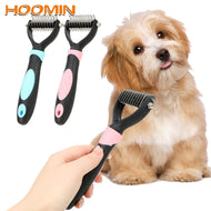 Pet Fur Knot Cutter Dog Grooming Shedding Rake Dog Cat Hair Removal Comb Pet Brush Grooming Tool