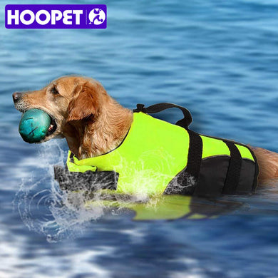 HOOPET Pet Dog Life Jacket Safety Vest Surfing Swimming Clothes Summer Vacation Oxford Breathable French Bulldog