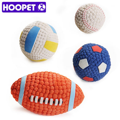 Pet Dog Toy Balls Squeak Puppy Toys Interesting Tennis Football Tooth Cleaning Toys for Dogs