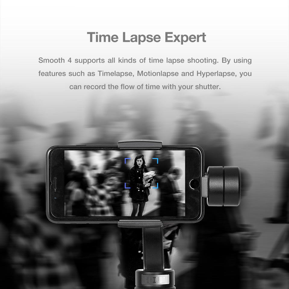 Zhiyun Official Smooth 4 3 Axis Handheld Gimbal Portable Stabilizer Ca Tech Ii For Smartphones Camera Mount Smartphone Iphone