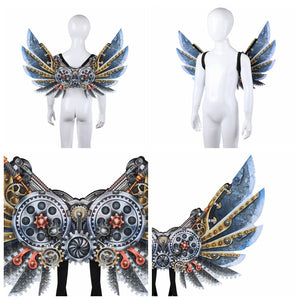 Halloween 3D Printing Mechanical Punk Wings Dress Up Halloween Party Costumes Cosplay Supplies - ShopeeShipee
