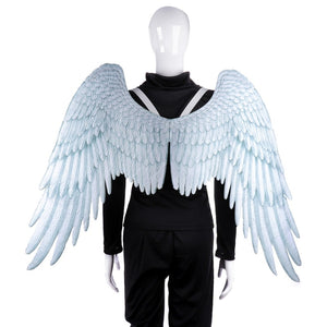 Halloween Angel Cosplay Props Adult Cosplay Costumes Oversized Black and White Wings Theme Party Supplies - ShopeeShipee