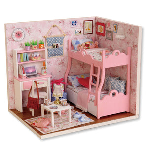 Handmade Doll House Furniture Miniatura Diy Doll Houses Miniature Dollhouse Wooden Toys For Children Grownups Birthday Gift HLZ