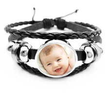 Handmade Personality Photo Family Photo Baby Child Dad Mom Brother Sister Grandparents Family Portrait Bracelet Private Custom