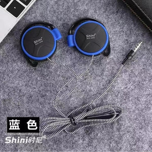 Headphones 3.5mm Super Bass Headset EarHook Earphone For Mp3 Player Computer Mobile Earphone Wholesale ShiniQ940 Free Shipping