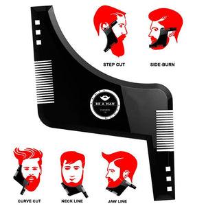 High Quality Beard Style Comb Multi-functional Men Moustache Moulding Styling Tools Template Brush Hair Beard Template - ShopeeShipee