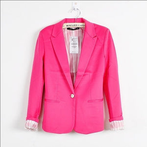 Hot Blazer Women New 2017 Candy Color Jackets Suit Slim yards Ladies Blazers Work Wear Jacket