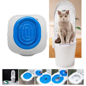 Hot Sale Plastic Cat Toilet Training Kit Litter Box Puppy Cat Litter Mat Cat Toilet Trainer Toilet Pet Cleaning Training Supply