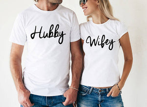Hubby and Wifey Shirts Couple Tshirts hubby & wifey Matching shirts Best Gift Couple t shirt anniversary gift t shirt tees