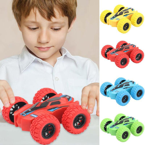 Inertia Four-Wheel-Drive Model Car off-Road Vehicle Double-sided Dump Acrobatic Climbing Children Simulation Tracks Gift 7.5X7cm - ShopeeShipee