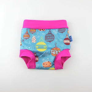 Infant Children Leakproof Swimming Nappies Newborn Baby High Waist Swimming Trunks Baby Boys Girls Cartoon Printed Swim Diapers - ShopeeShipee