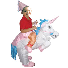Inflatable Costume Unicorn Funny Animal Cosplay Boys Girls Mascot Fancy Waterproof Halloween Party Suit Child
