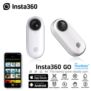 Insta360 GO New Action Camera AI Auto Editing Hands-free Insta 360 Go Smallest Stabilized Camera For iPhone & Android - ShopeeShipee