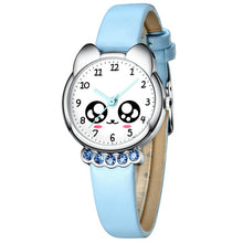 Fashion Casual Girl Watch Kids Cute Leather Strap Watches Rhinestone Waterproof Lovely Kid Children Quartz Wristwatch Clock