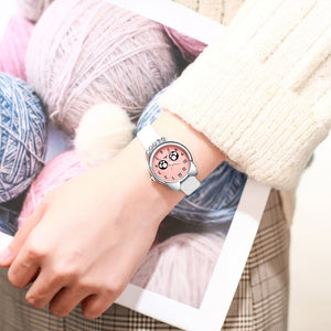 Fashion Casual Girl Watch Kids Cute Leather Strap Watches Rhinestone Waterproof Lovely Kid Children Quartz Wristwatch Clock - ShopeeShipee