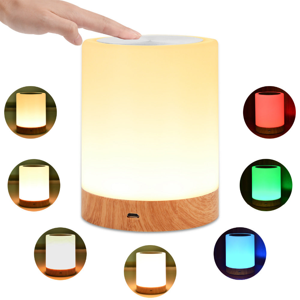 KMASHI LED Bedside Table Lamps Touch Lamp Night Light Rechargeable Warm White Light RGB Color  Bedrooms Living Room Portable
